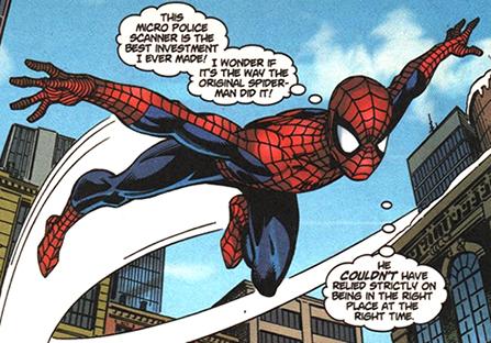 Mattie Franklin Flying as Spider-Man